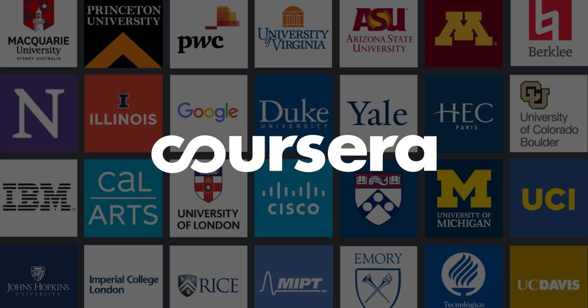 Coursera la plataforma de cursos online más prestigiosas del mundo.